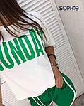 Женский костюм, трикотаж, р-р С-М; М-Л (зелёный), фото 2