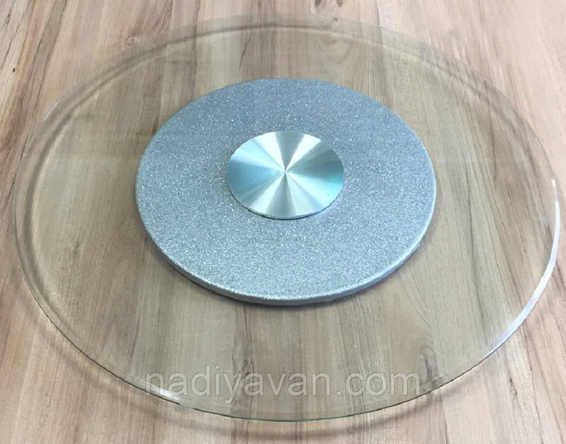 Стіл поворотний круг 80см*135мм, обідній стіл без ніжок центр хром