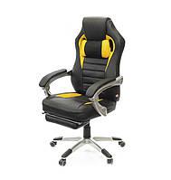 Кресло АКЛАС Стрендж PL SR Черное с желтым, фото 1