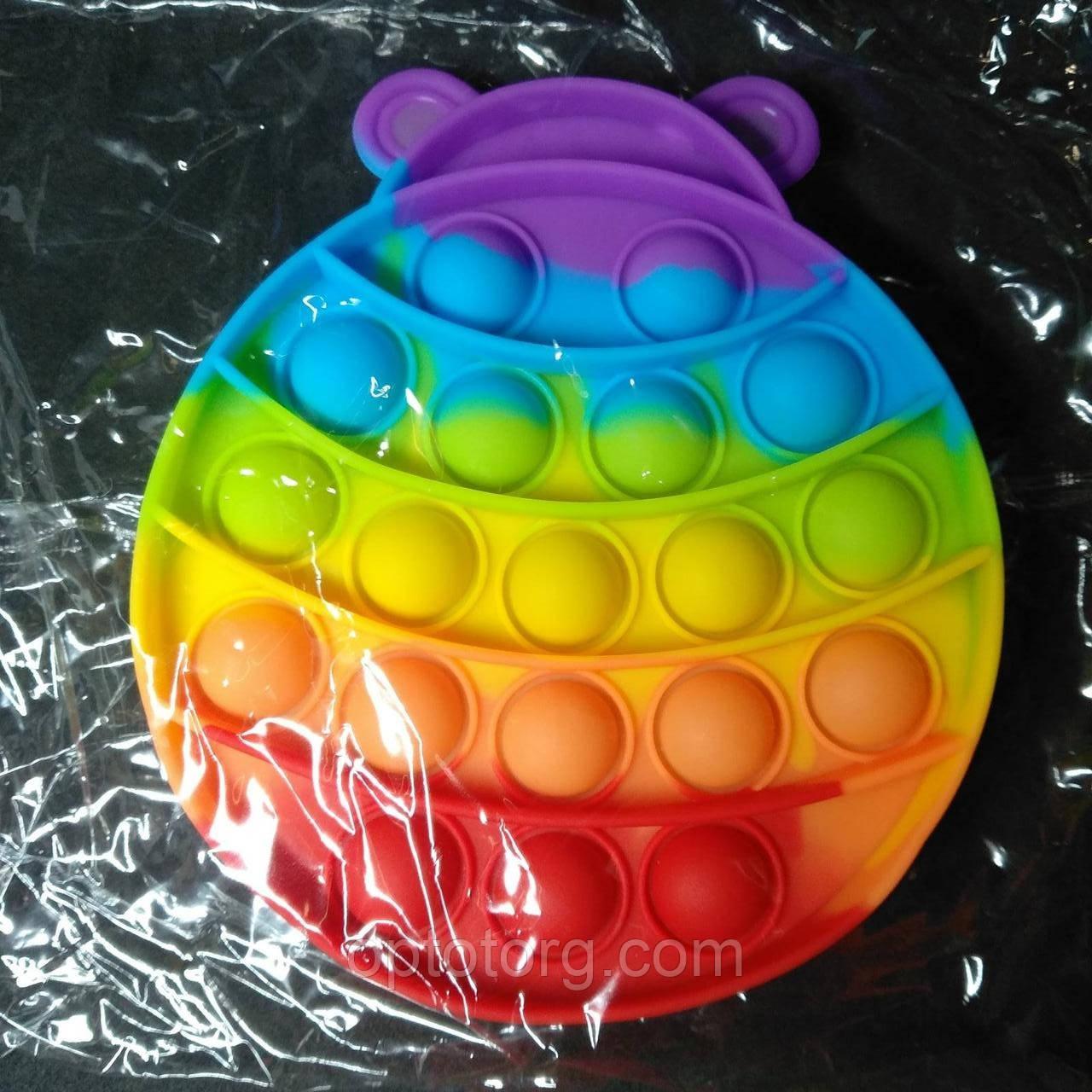 Поп-Ит  Pop-It антистресс-игрушка радужная божья коровка 13*11 см