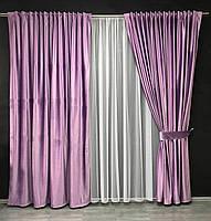 Штори з трубною стрічкою в кімнату передпокій кабінет, багаті штори у вітальню зал спальню кабінет, штори для кухні залу спальні, фото 3