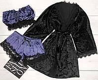 Велюровый халат и пижама.