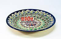 Тарелка узбекская плоская 23х3см, ручная роспись (вариант 3), фото 1