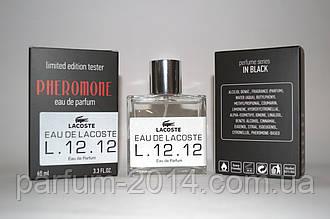 Чоловічий міні парфум лакоста бланк білий Eau De Lacoste L. 12.12 Blanc з феромонами 60 мл (осіб) тестер
