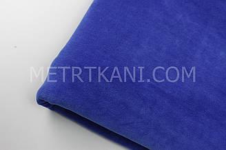 Клаптик. Велюр х/б колір синій (електрик) 75*180 см