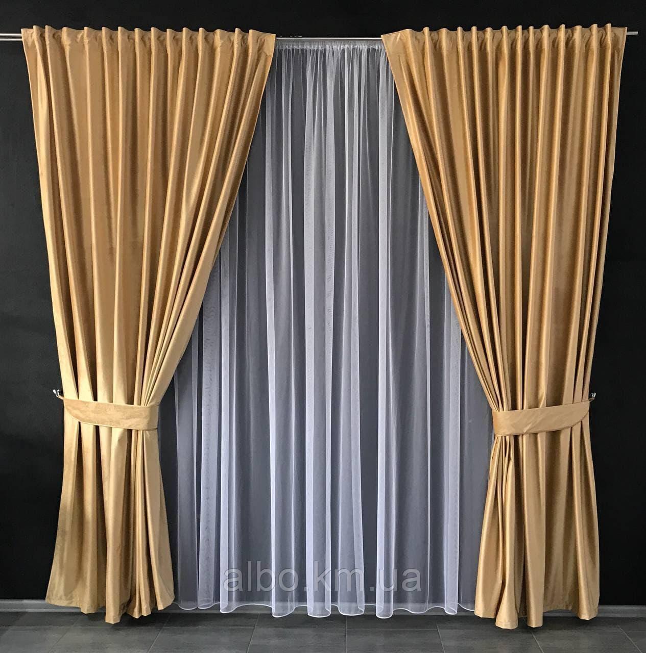 Готовые шторы для зала спальни, шторы на трубной ленте в комнату хол зал квартиру, шторы бархатные для спальни