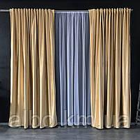 Готовые шторы для зала спальни, шторы на трубной ленте в комнату хол зал квартиру, шторы бархатные для спальни, фото 5