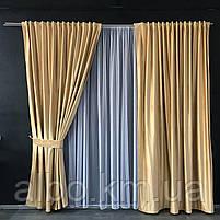 Готовые шторы для зала спальни, шторы на трубной ленте в комнату хол зал квартиру, шторы бархатные для спальни, фото 7