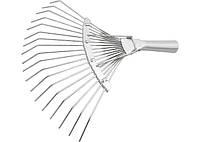 Грабли СИБРТЕХ веерные 18 зубьев, без черенка, оцинкованные, круглый зуб