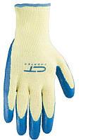 Перчатки х/б 10 класс СИБРТЕХ латексное рельефное покрытие, XL