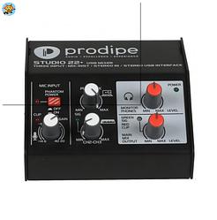 Аудиоинтерфейс USB Prodipe Studio 22+ 2х2
