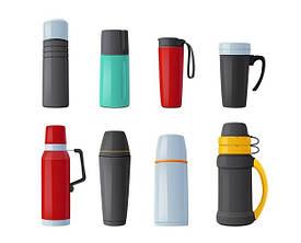 Термосы, кружки, чашки, бутылки и ланч боксы
