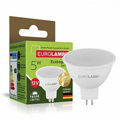 Точечная светодиодная EUROLAMP LED Лампа ЕКО MR16 5W GU5.3 4000K 12V