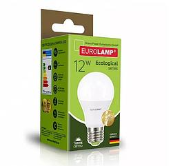 Класична світлодіодна EUROLAMP LED Лампа ЕКО А60 12W E27 3000K