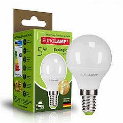 Светодиодная EUROLAMP LED Лампа ЕКО G45 5W E14 3000K