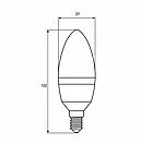 """Світлодіодна EUROLAMP LED Лампа """"Свічка"""" ЕКО 6W E14 3000K, фото 4"""