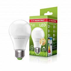 Світлодіодна EUROELECTRIC LED Лампа A60 7W E27 4000K