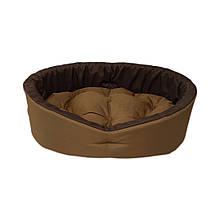 Лежак лежанка спальное место для собак и котов койот/коричневый