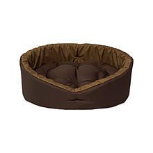Лежак лежанка спальное место для котов и собак коричневый/койот