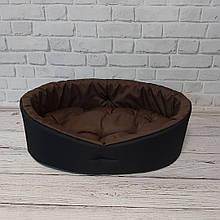 Лежак домик лежанка спальное место для собак и кошек, животных черный/коричневый