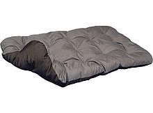 Лежак лежанка спальне місце для собак і кішок. Двосторонній Сірий + Чорний