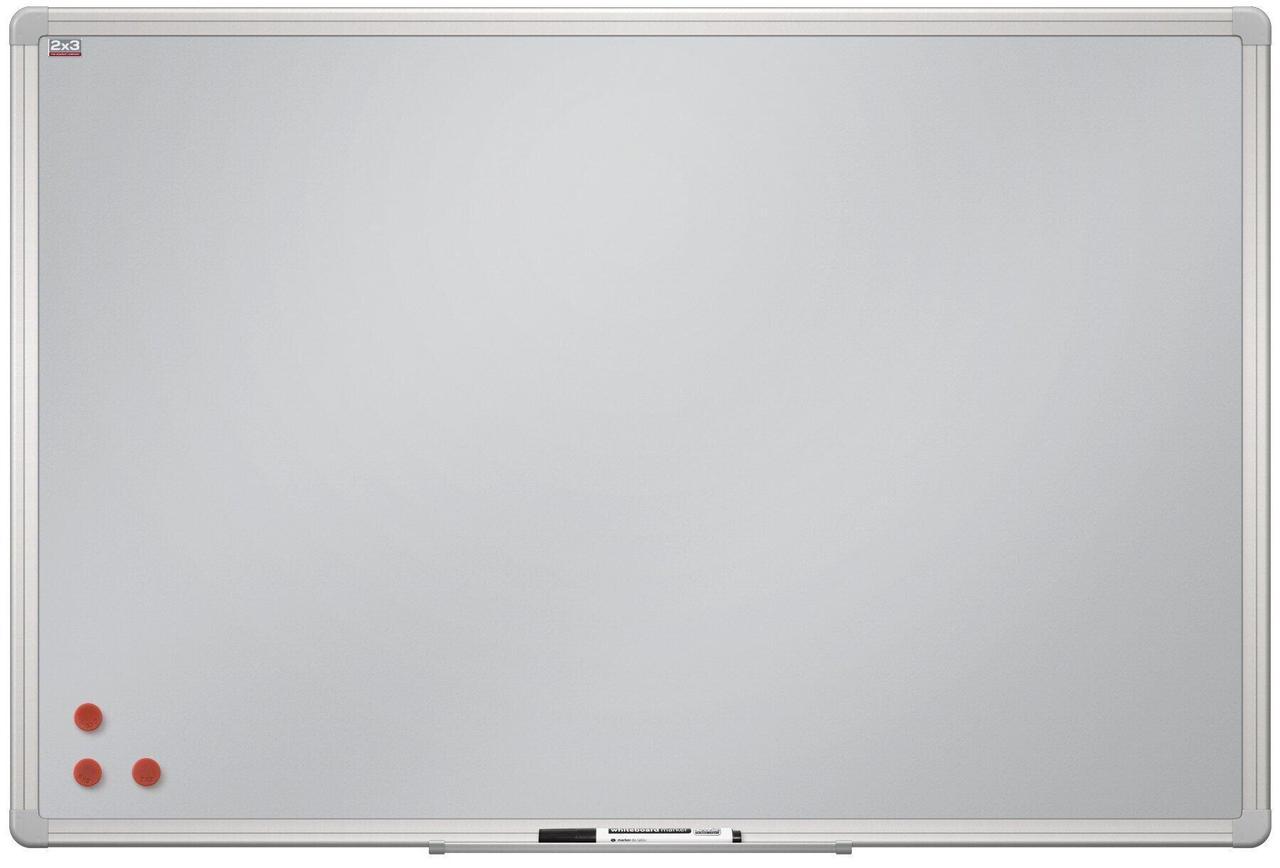 Магнитно-маркерная доска Серебрянная матовая поверхность 2х3. Все размеры. Белая доска для рисования маркером