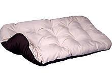 Лежак лежанка спальное место для собак и котов. Двусторонний Бежевый + Коричневый