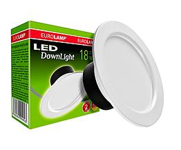 Светильник потолочный EUROLAMP LED DownLight 18W 4000K круглый (LED-DLR-18/4(Е))