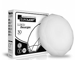Светодиодный светильник Eurolamp DECO LIGHT круглый накладной 30W 4000K (LED-NLR-30W(B)