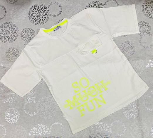 Дитяча футболка для хлопчика р. 5-8 років, фото 2