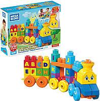 Конструктор Mattel Mega Bloks Музыкальный паровозик First Builders ABC Musical Train Уценка