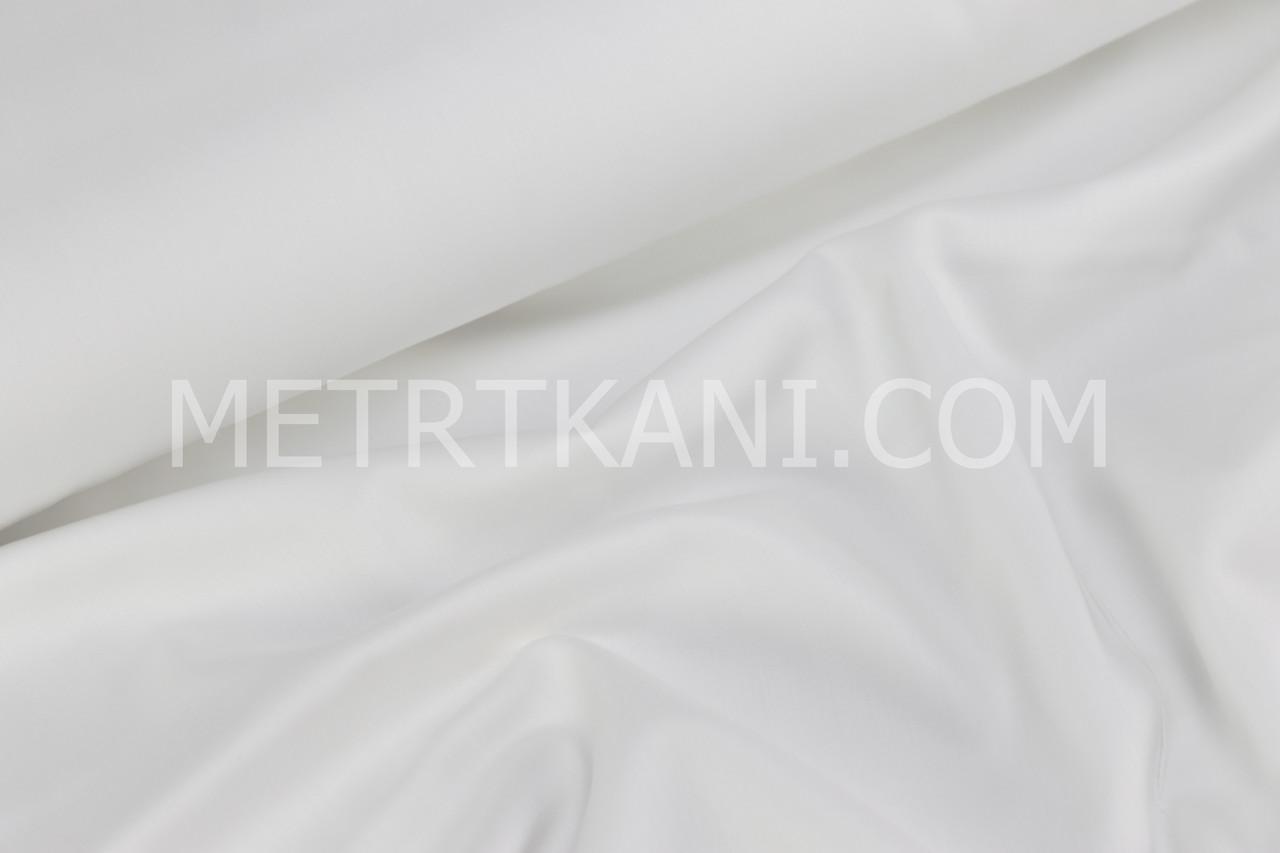 Клаптик.Сатин преміум білого кольору, 25*240 см