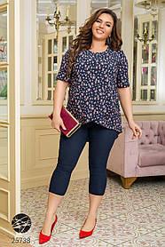 Комплект из блузы и леггинсов-капри размер: 50-52,54-56,58-60
