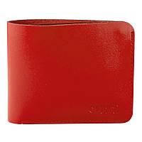 Портмоне жіноче шкіряне без монетниці на кнопці HC-501 червоне