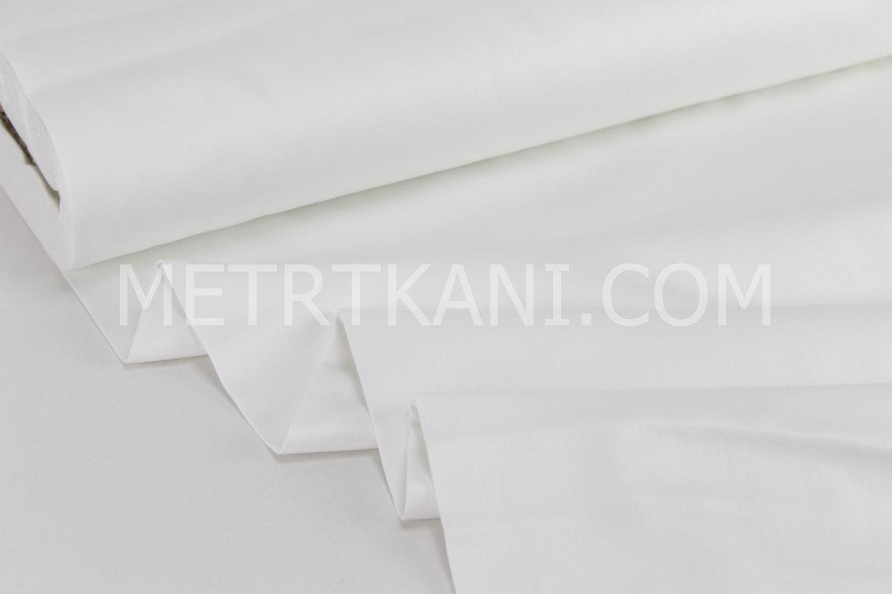Лоскуток.Ткань для постельного белья Ранфорс Турция белого цвета, 73*107 см