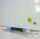 Безрамная стеклянная магнитная маркерная доска Tetris. Белая офисная доска на стену для рисования маркером, фото 3