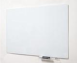 Безрамная стеклянная магнитная маркерная доска Tetris. Белая офисная доска на стену для рисования маркером, фото 4