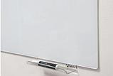 Безрамная стеклянная магнитная маркерная доска Tetris. Белая офисная доска на стену для рисования маркером, фото 7
