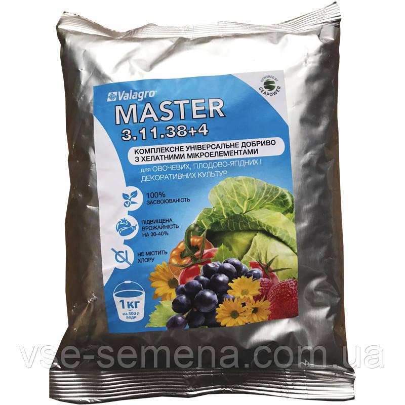 Master (Мастер), 1 кг, NPK 3.11.38 + 4, комплексное минеральное удобрение, Valagro