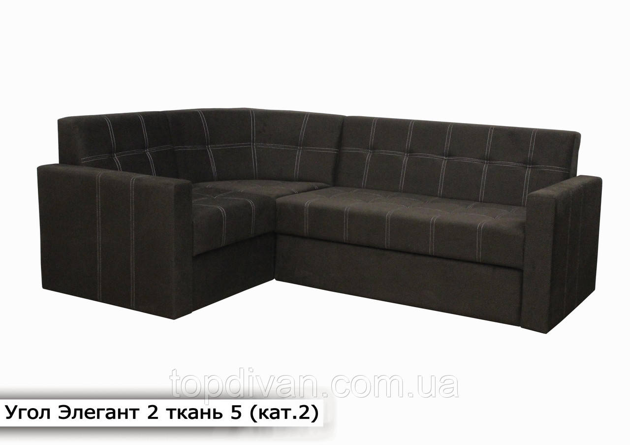 """Кутовий диван """"Елегант 2"""" (Кут взаємозамінний) Тканина 5 (кат 2)"""