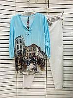 Рубашка женская голубая летняя Grandi 21-4120