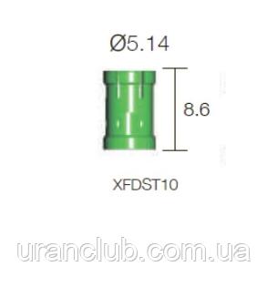 Обмежувач Lindemann діам. = 5.14 мм, глибина = 10мм, довжина = 8.6 мм, № XFDST10