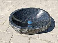Накладная раковина из гранита габбро ручной работы размером 500мм *400мм *140мм