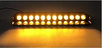 Стробоскоп мигалки для авто спец сигналы на лобовое стекло 12 LED ДХО Лампы Желтый / Оранжевый