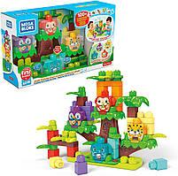 Конструктор Mattel Mega Bloks Домик на дереве First Builders Block Jungle Treehouse Band  Уценка