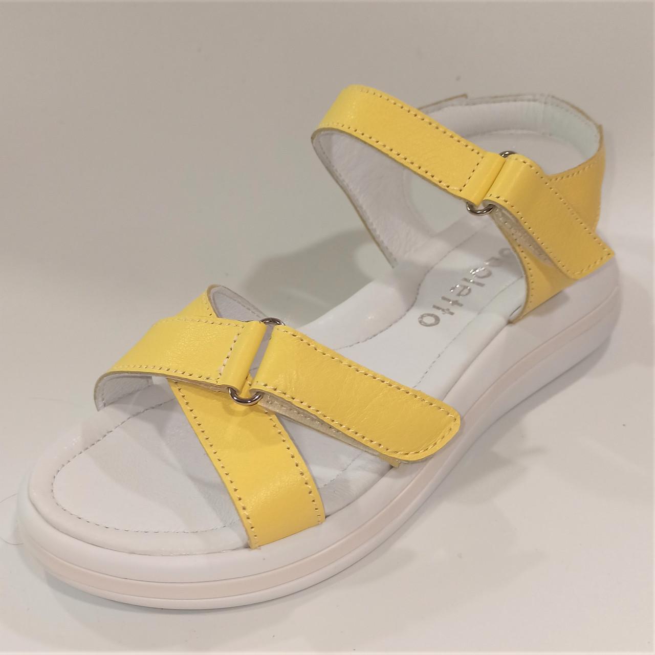 Жіночі босоніжки жовті, Arcoboletto розміри: 34-40
