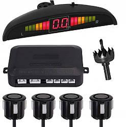 Парктронік автомобільний PAssistant на 4 датчика + LCD (чорні датчики) (5428)