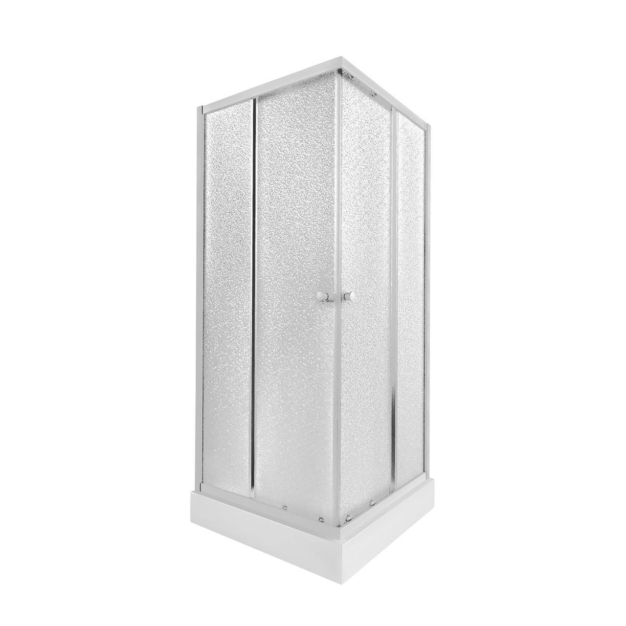 Набір Qtap душова кабіна Presto WHI1099SP5 Pear + піддон Unisquare 309915