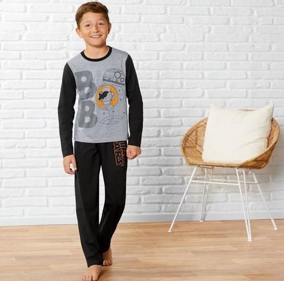 Пижама для мальчика, рост 110/116, цвет черный и серый