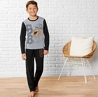 Пижама для мальчика, рост 110/116, цвет черный и серый, фото 1